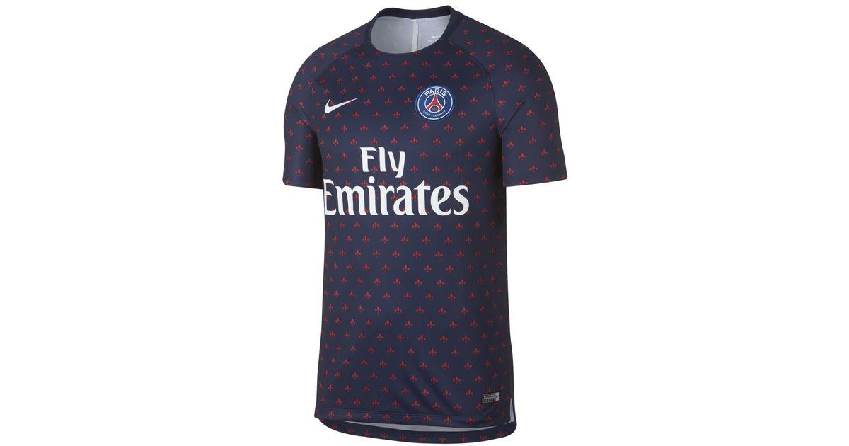 Nike Paris Saint Germain Psg 2018 2019 Dry Squad Training Shirt In 396d1912d