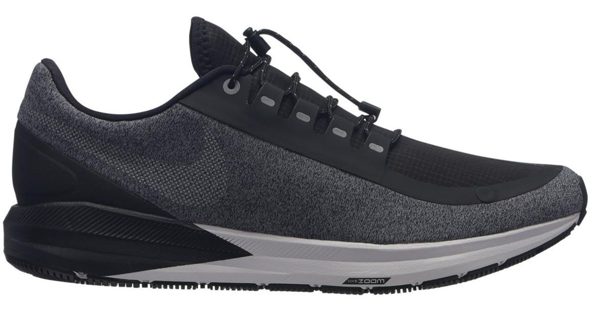 1586494949276 Lyst - Nike Air Zoom Structure 22 Shield Running Shoes in Black for Men