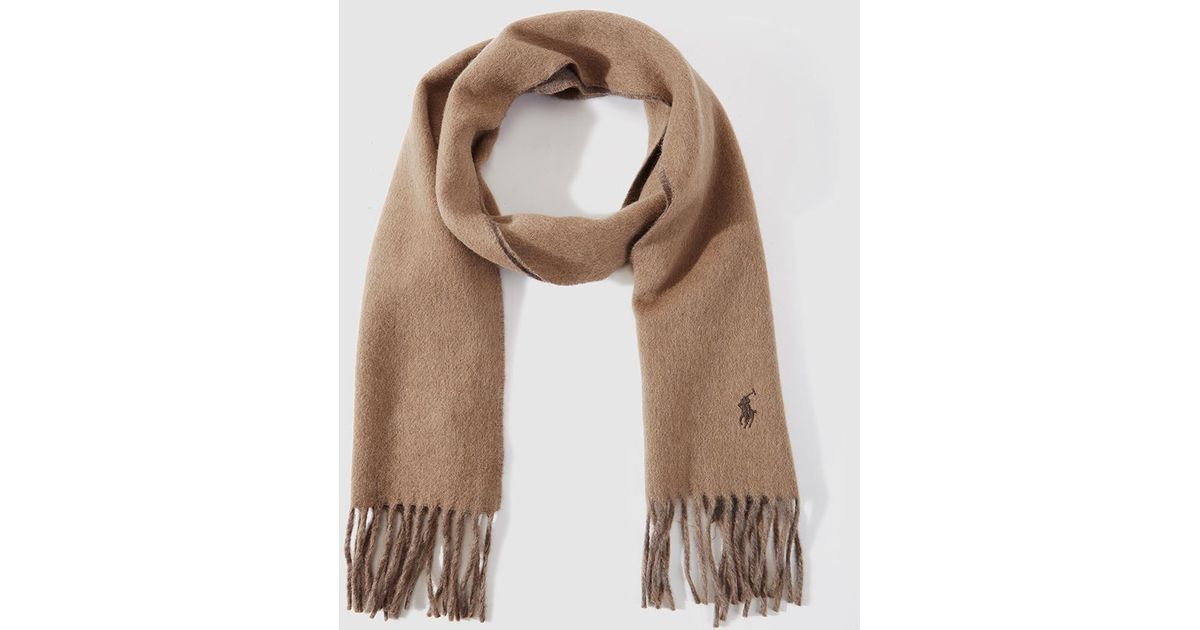 Polo Ralph Lauren Reversible Scarf In Natural Tones in Brown for Men - Lyst 24d0f082d500d
