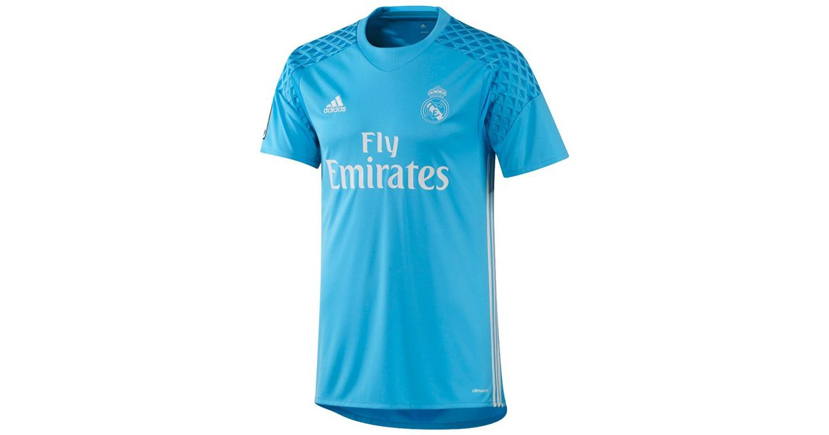 buy popular 3c5da 2902f Adidas Originals Blue Real Madrid Cf 2016-2017 Home Strip Goalkeeper  T-shirt for men
