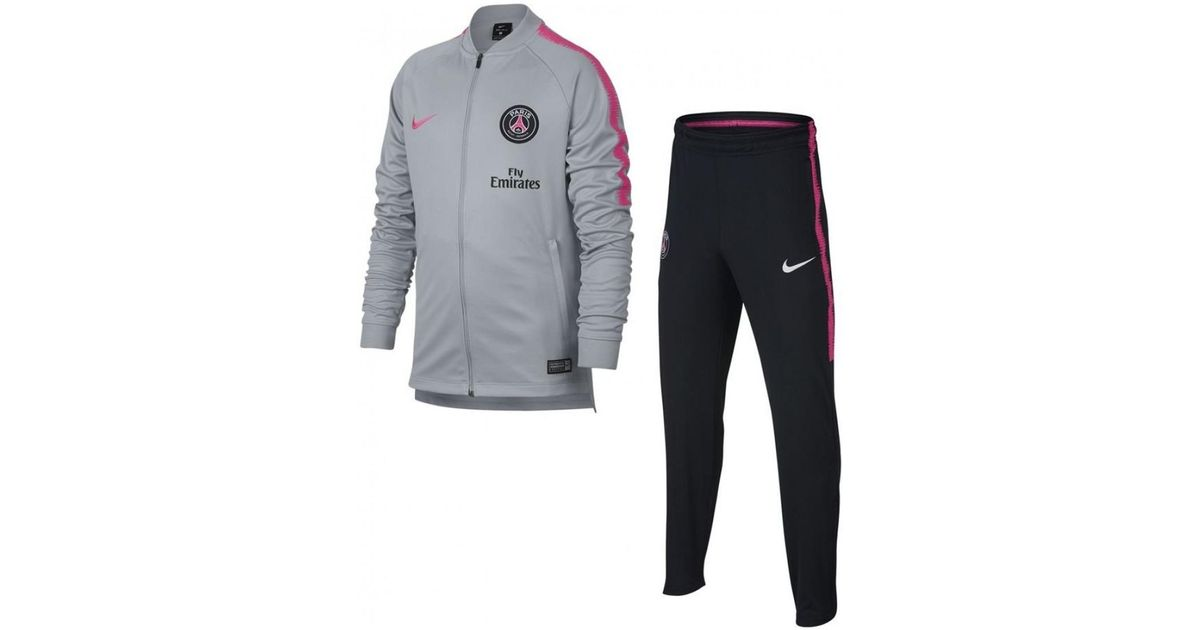 Men/'s 2018//19 NlKE PSG Paris St Germain Dry Squad Pants 919973-406 Black//Pink