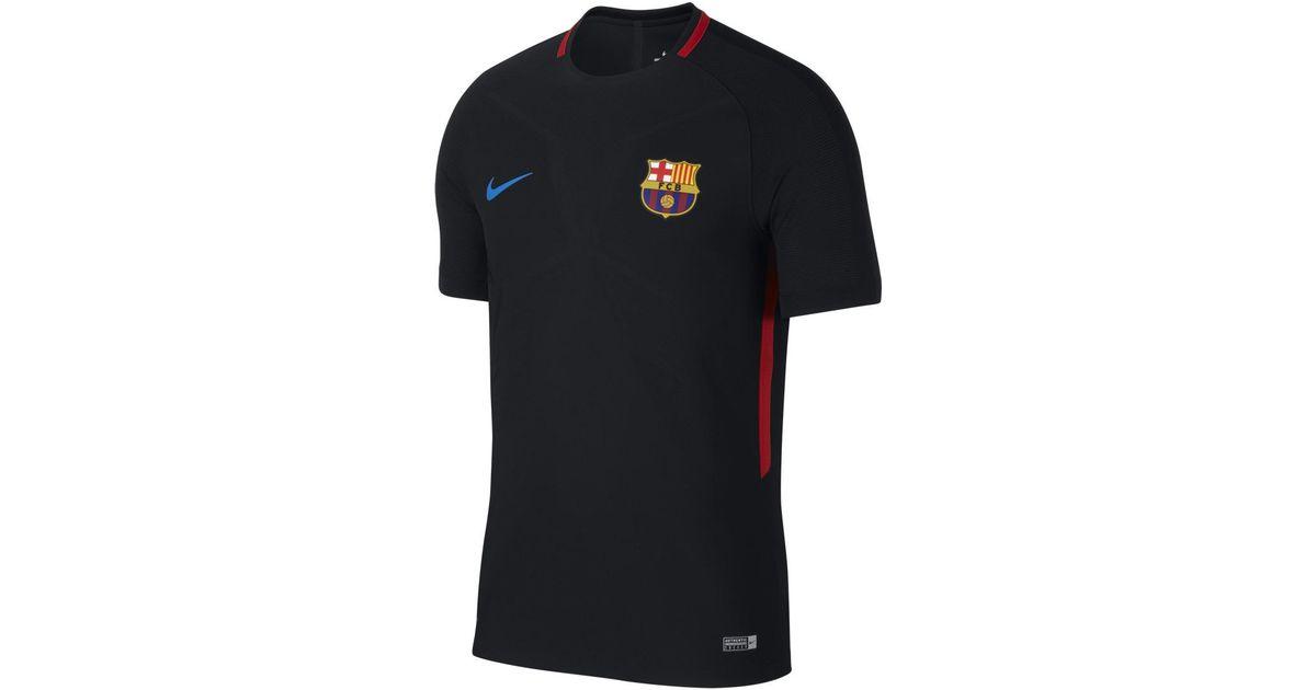 11905d479 Nike Fc Barcelona 2017-2018 Strike Aeroswift Training T-shirt in Black for  Men - Lyst