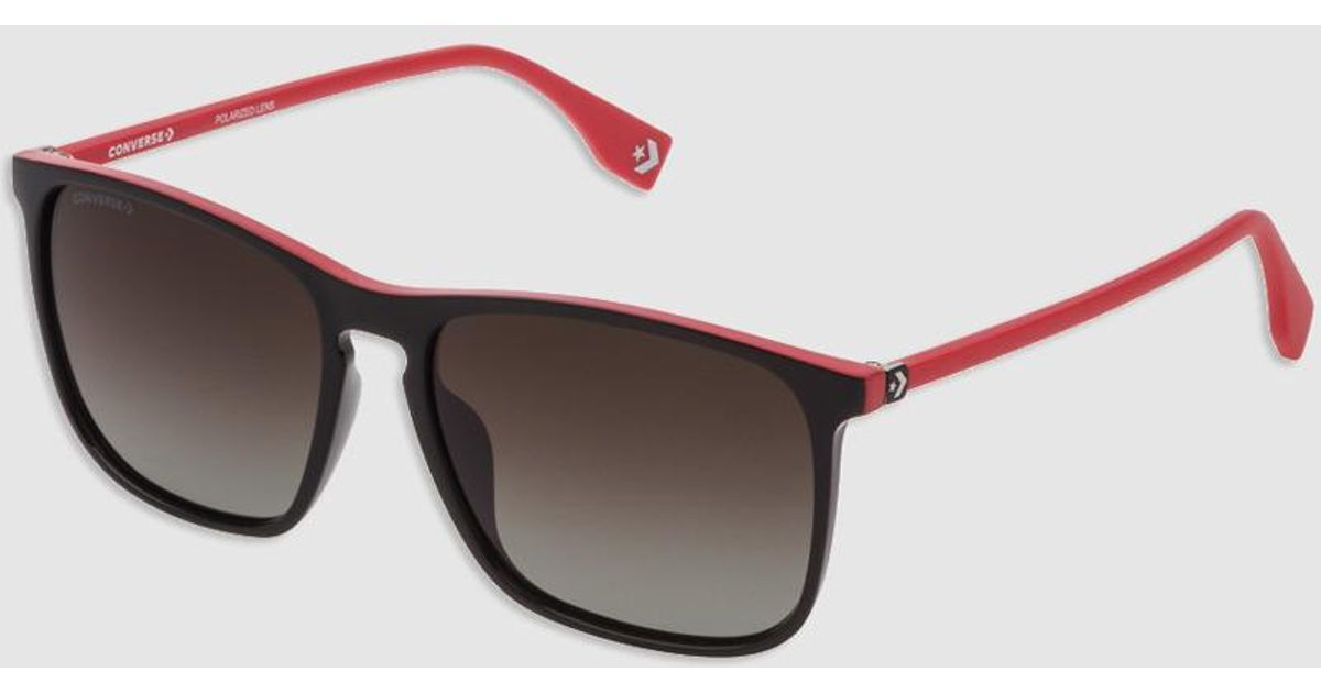 f1c0defca94c2 Lyst - Converse Square Injected Black Sunglasses With Contrasting Details  in Black for Men