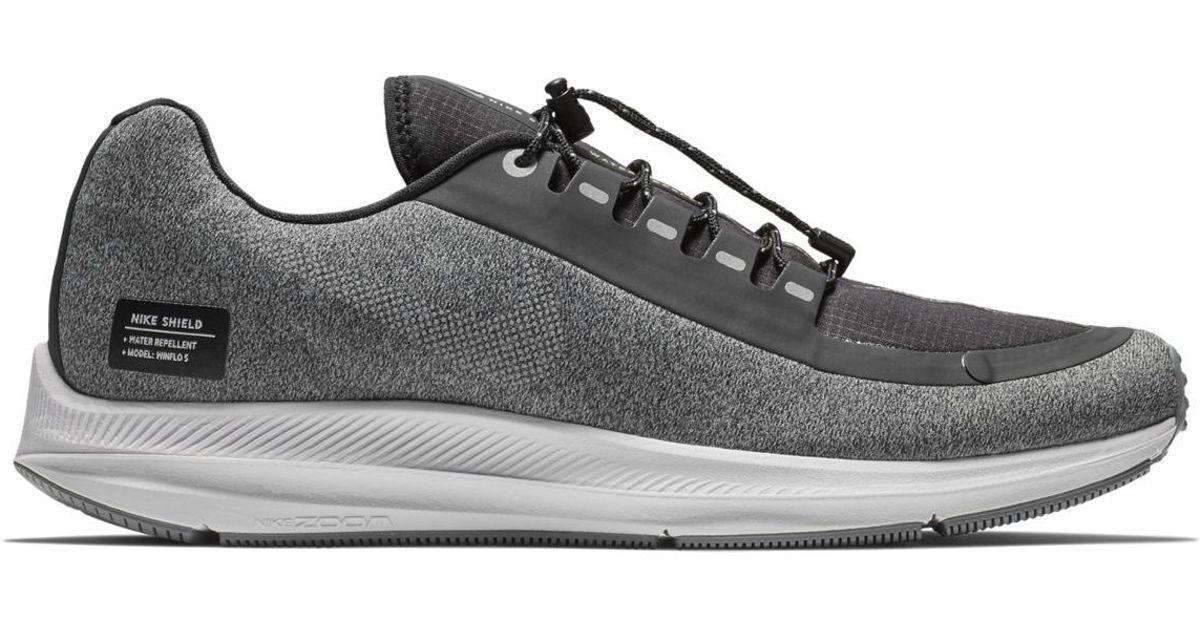 a24d8b97e474 Lyst - Nike Air Zoom Winflo 5 Run Shield Running Shoes in Black for Men