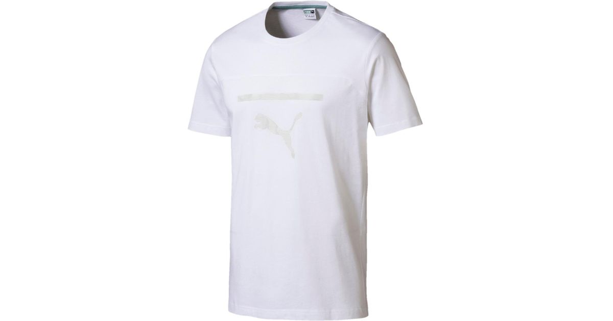 6021d821b1dc Lyst - Puma Pace Graphic T-shirt in White for Men
