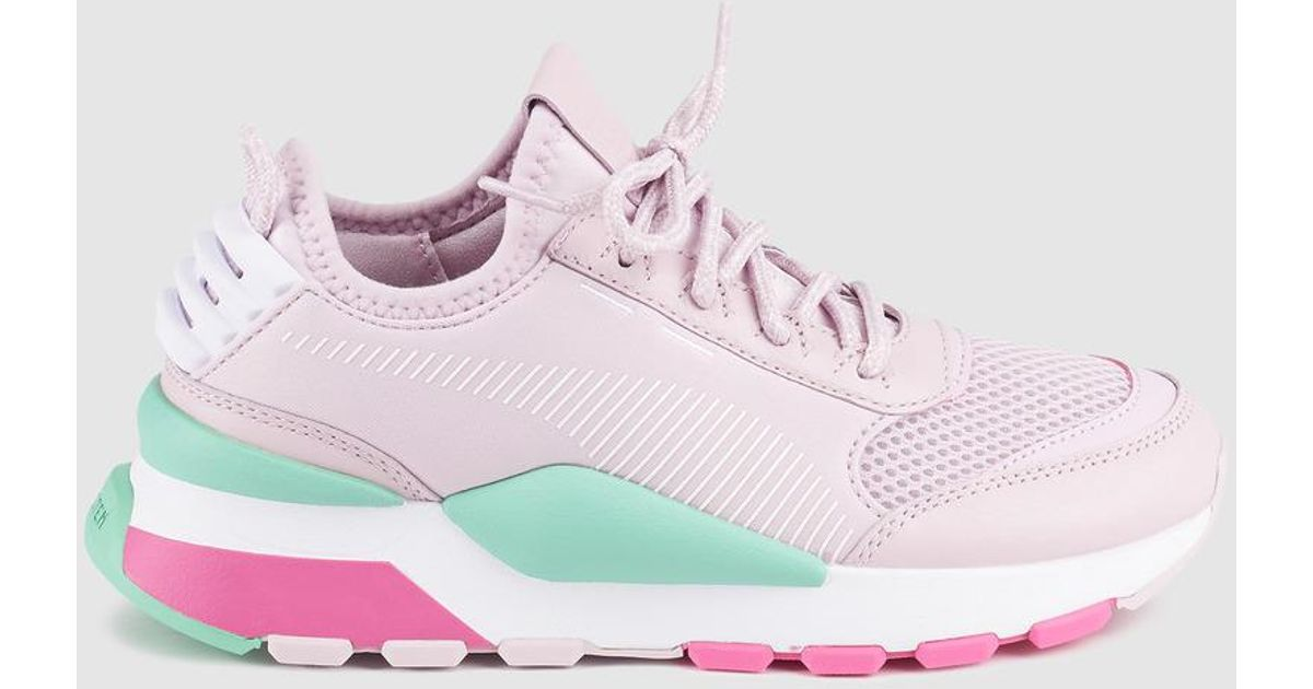 PUMA Rs O Pink Lace-up Trainers in Pink - Lyst 6731fa527