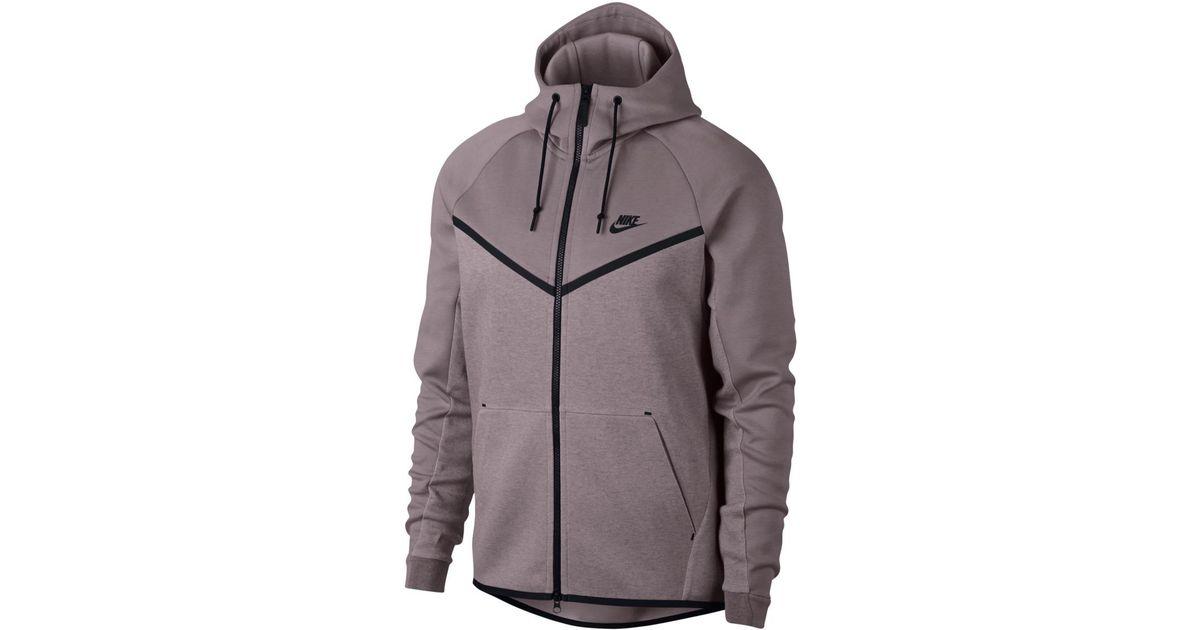 5dfc2ab8c86b Nike Sportswear Tech Fleece Windrunner Sweatshirt in Pink - Lyst