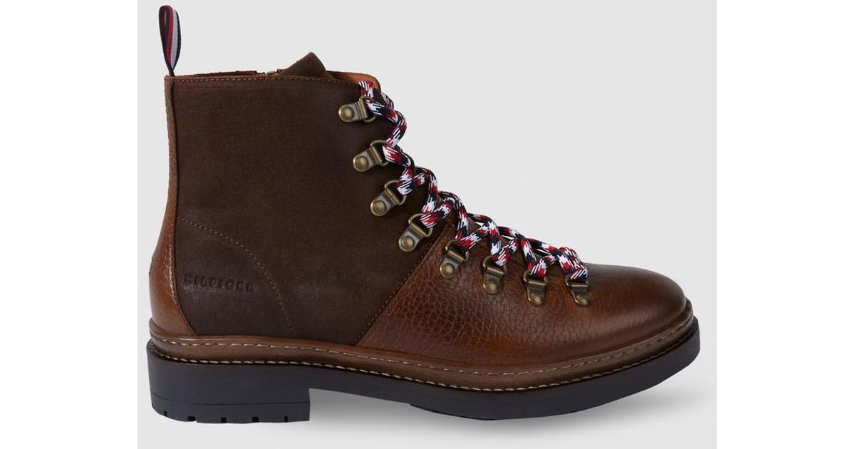 a4a9c2f3f63314 Lyst - Tommy Hilfiger Brown Lace-up Boots in Brown for Men