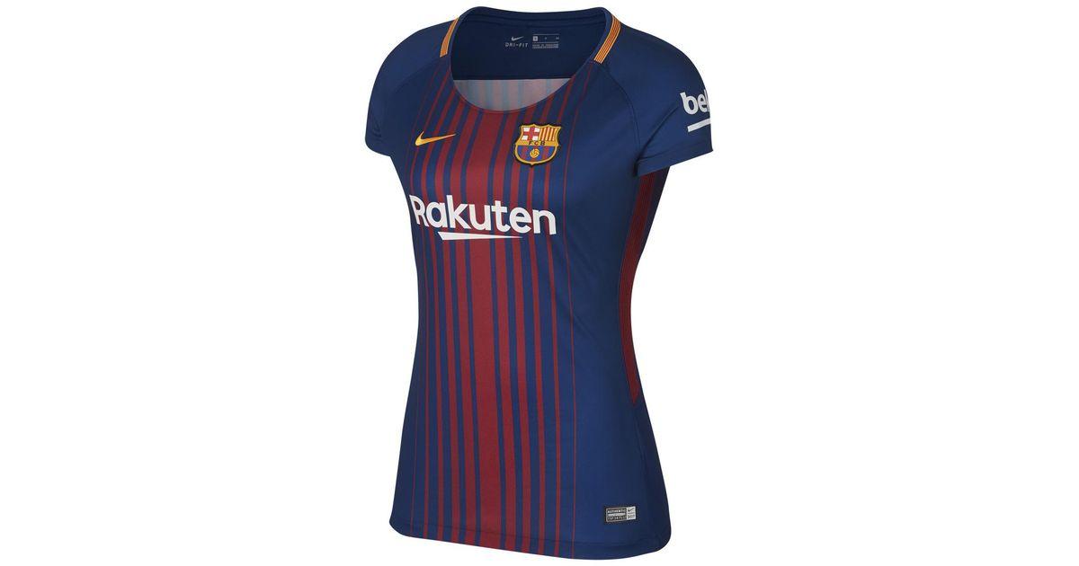 324a52f90b1 Nike Fc Barcelona 2017-2018 Breathe Stadium Home Strip T-shirt in Blue -  Lyst