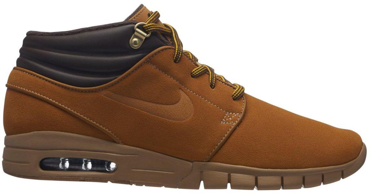 4bb35b10b8 Nike Sb Stefan Janoski Max Mid Premium Skater Trainers in Brown for Men -  Lyst