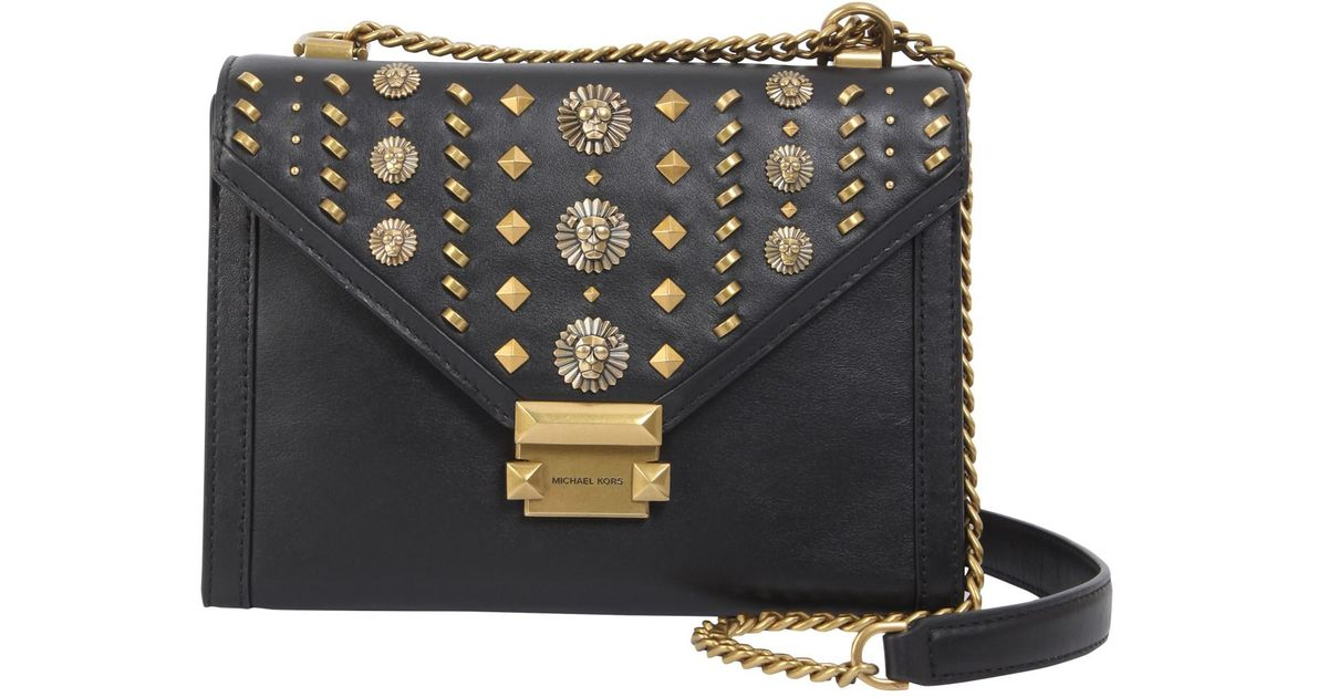 cc69e0cfcf MICHAEL Michael Kors Studded Whitney Messenger Bag in Black - Lyst