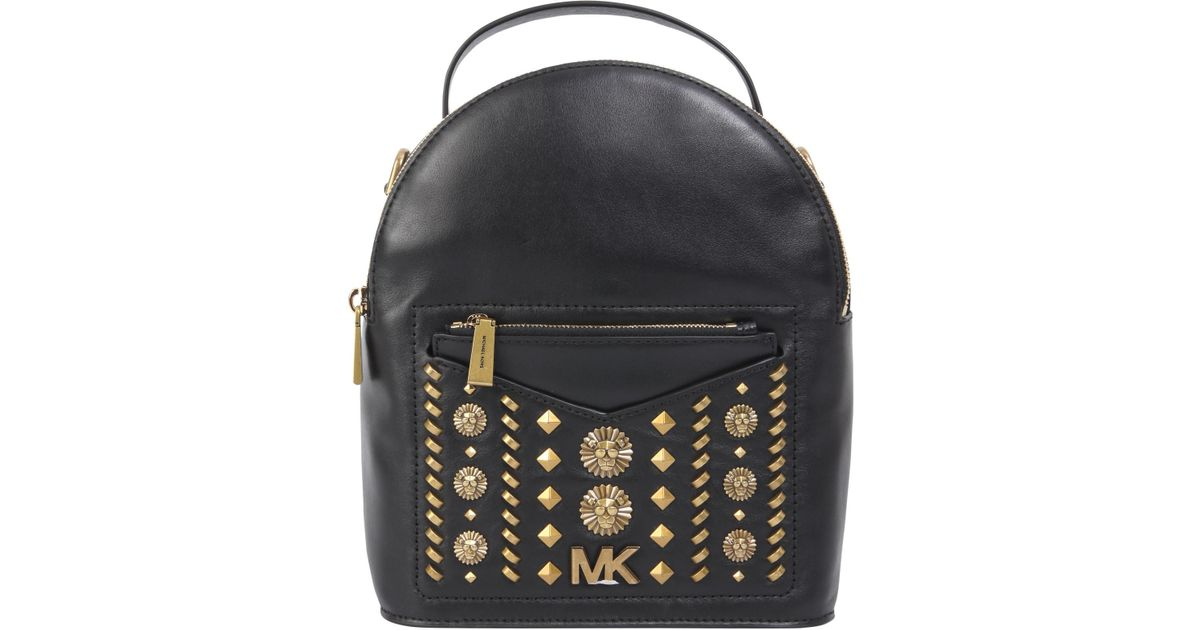 84f019b714a7 MICHAEL Michael Kors Studded Jessa Small Leather Backpack in Black - Lyst