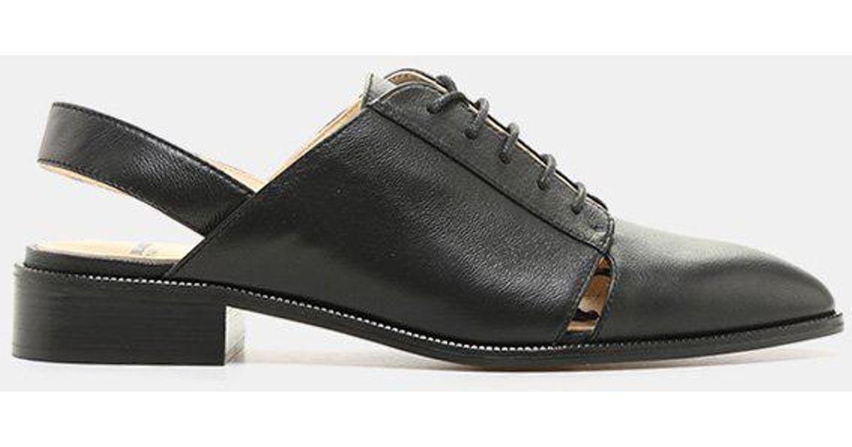 Jil Sander Navy Giovi Slingback Nappa Leather Oxford (Women's) gCUgSJV