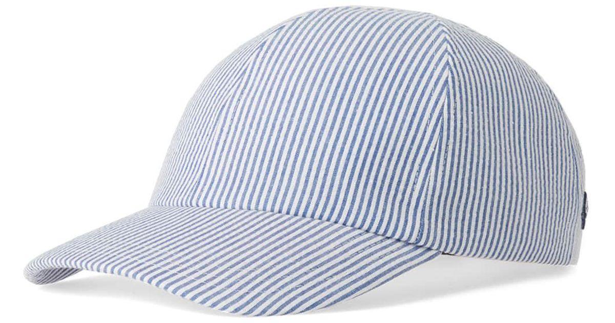 185ae0e6d21 Lyst - Larose Paris Seersucker Baseball Cap in Blue for Men