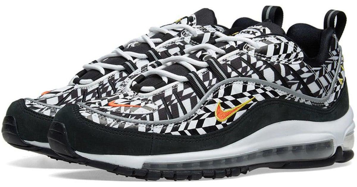 promo code 5fda4 18ff5 Nike Air Max 98  geometric Check  in White for Men - Lyst