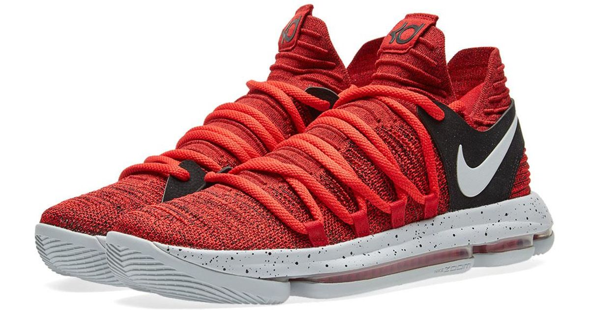 Lyst - Nike Zoom Kd10 in Red for Men a343df8f4