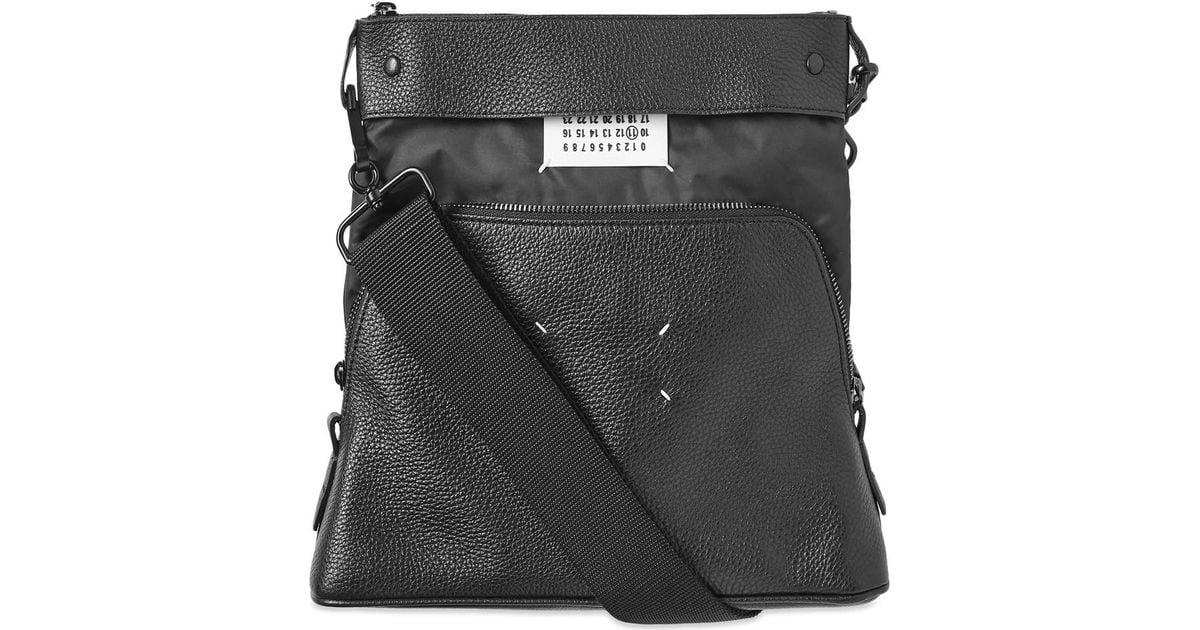 comprare on line 9c3f7 39888 Maison Kitsuné - Black Maison Margiela 11 Leather Portafoglio Convertible  Bag for Men - Lyst