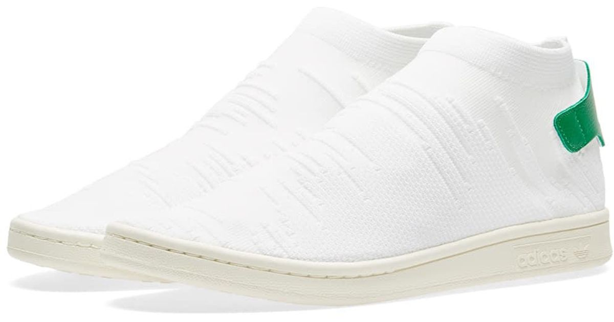online retailer 6ac16 4ffbd Adidas - White Stan Smith Sock Pk W - Lyst