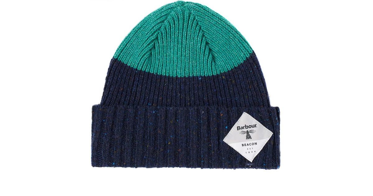 38956b2e0c1 Barbour Birkhouse Knitted Beanie in Blue for Men - Save 24% - Lyst