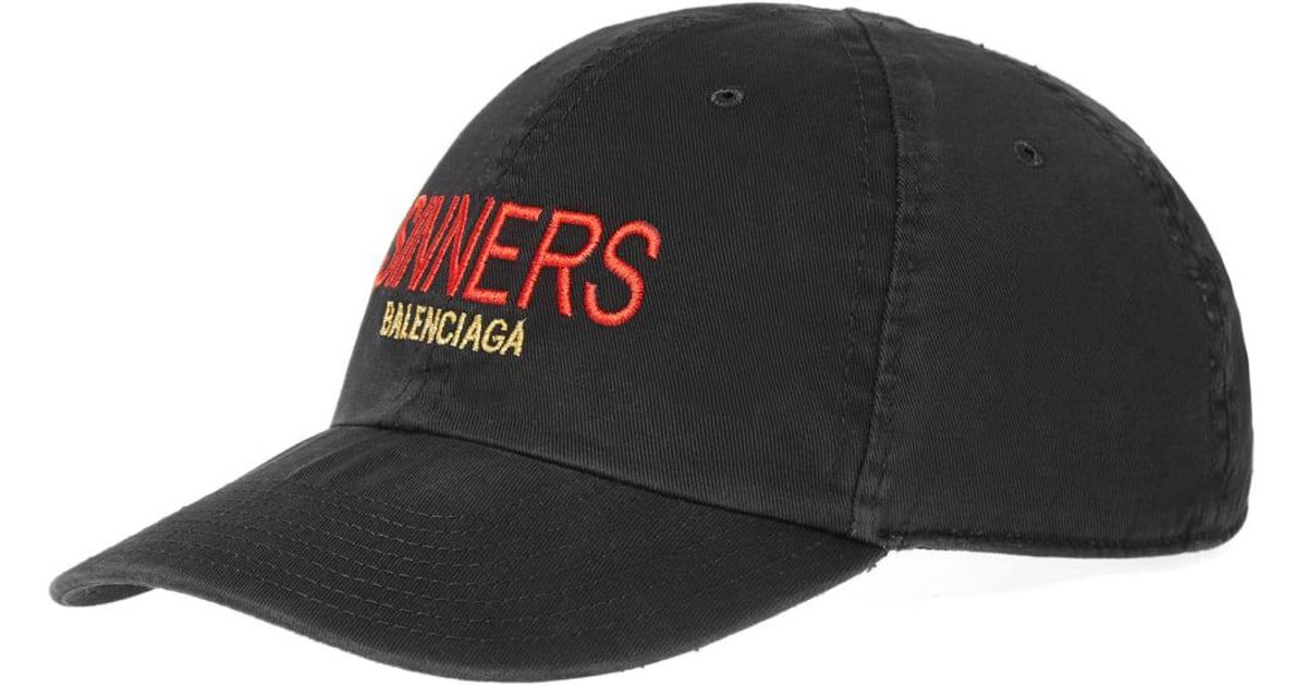 b2206d66 Balenciaga Sinners Embroidered Cap in Black for Men - Lyst