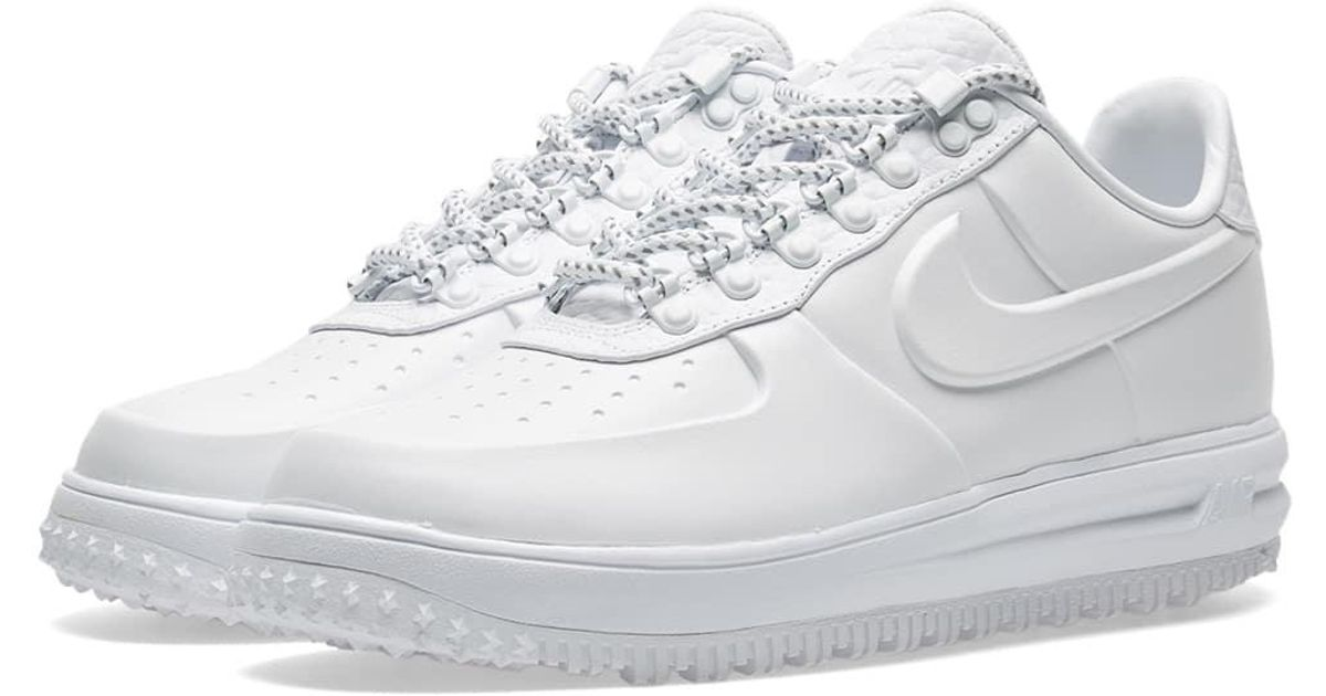 4abc52da507a ... promo code for lyst nike lunar force 1 duckboot low ibex in white for  men 6eadf