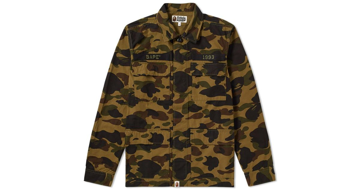 a65938f2 A Bathing Ape 1st Camo Ats Military Shirt in Green for Men - Lyst