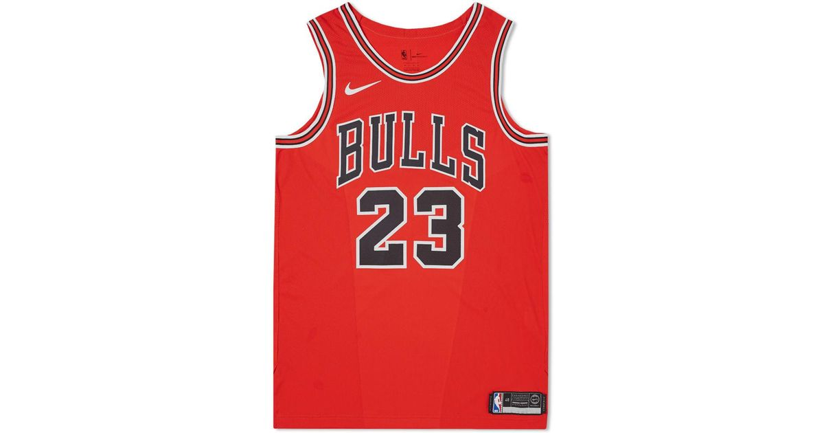 the latest 3b1b4 1f097 Lyst - Nike Michael Jordan Icon Edition Authentic Jersey in Red for Men