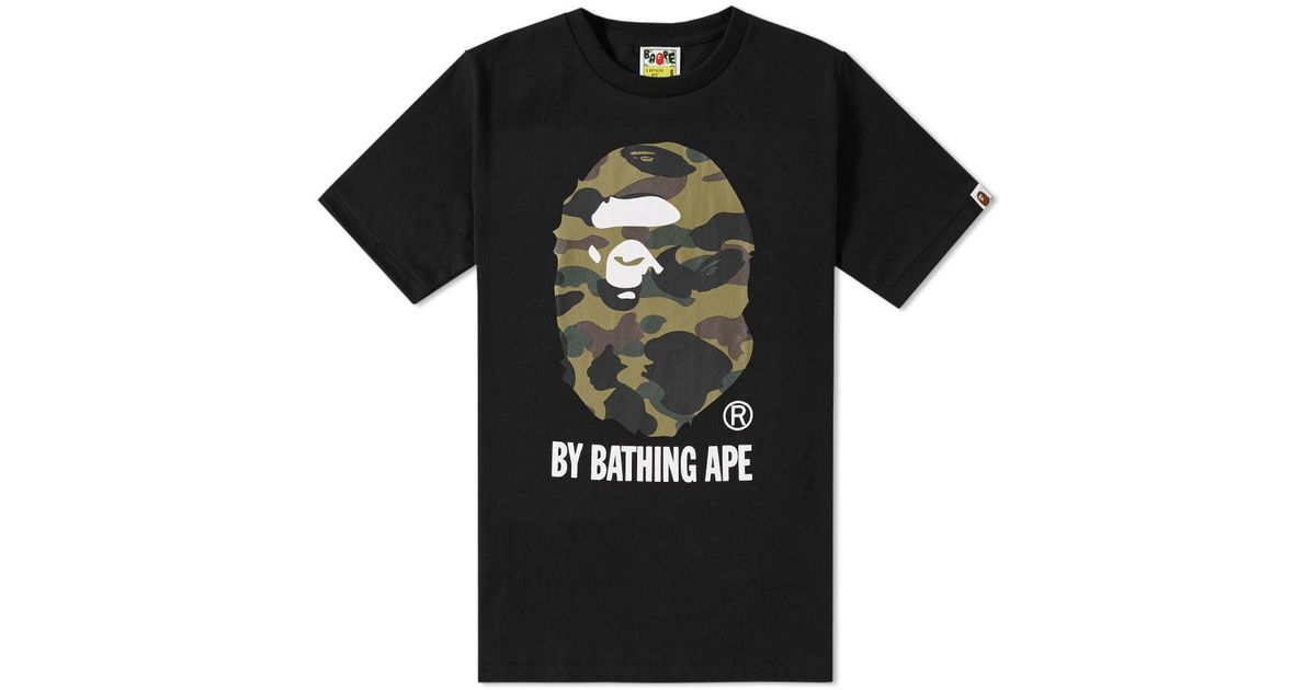 dfeeb0ad A Bathing Ape 1st Camo By Bathing Tee in Black for Men - Lyst