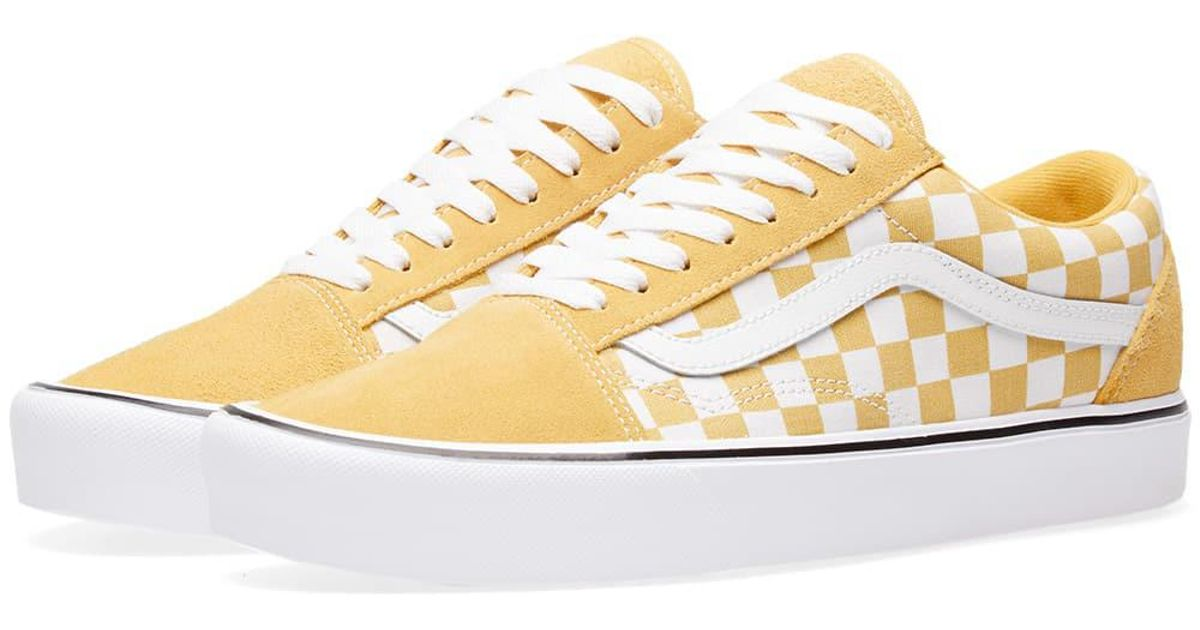 aeb0810746f Lyst - Vans Old Skool Lite Checkerboard in Yellow for Men