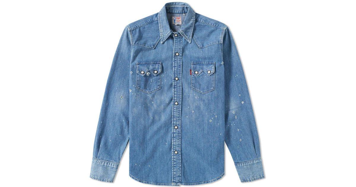 6c7fcad8 Levi's Levi's Vintage Clothing 1955 Sawtooth Denim Shirt in Blue for Men -  Lyst