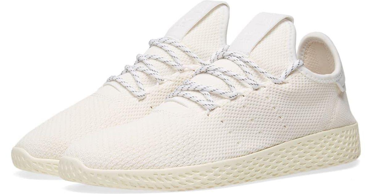cc672783a adidas X Pharrell Williams Hu Tennis Hu  blank Canvas  in White for Men -  Lyst