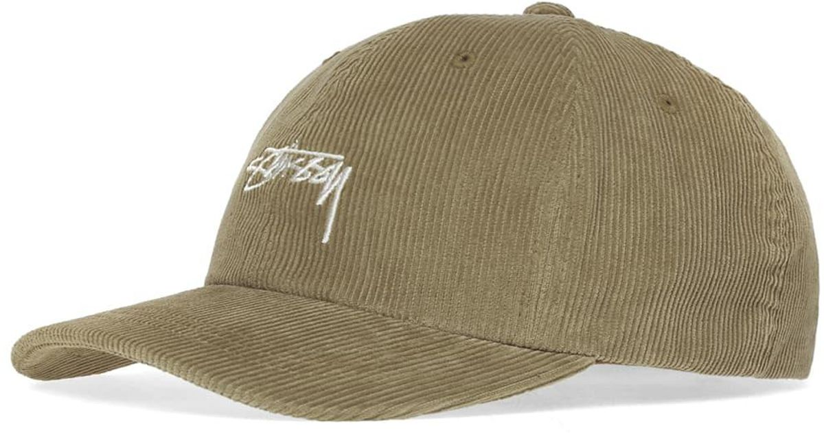 9c4592bbd92 Stussy Corduroy Low Pro Cap in Green for Men - Lyst