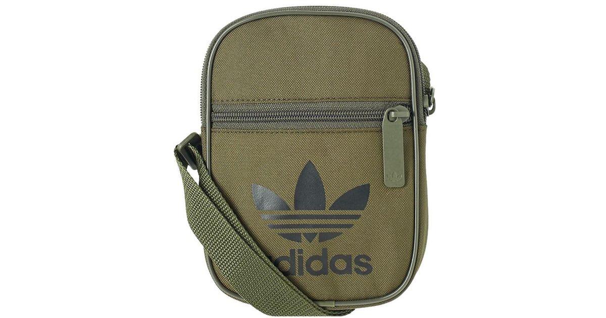d6ff9815f5 adidas Trefoil Festival Bag in Green for Men - Lyst