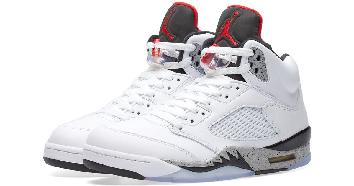 best loved 73aba a1b9a ... cheap for discount d5500 1a555 Lyst - Nike Nike Air Jordan V Retro Bg  in White ...