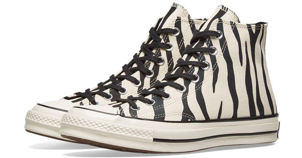 25b03ca27c7e Lyst - Converse Chuck Taylor 1970s Hi Zebra Canvas in White for Men