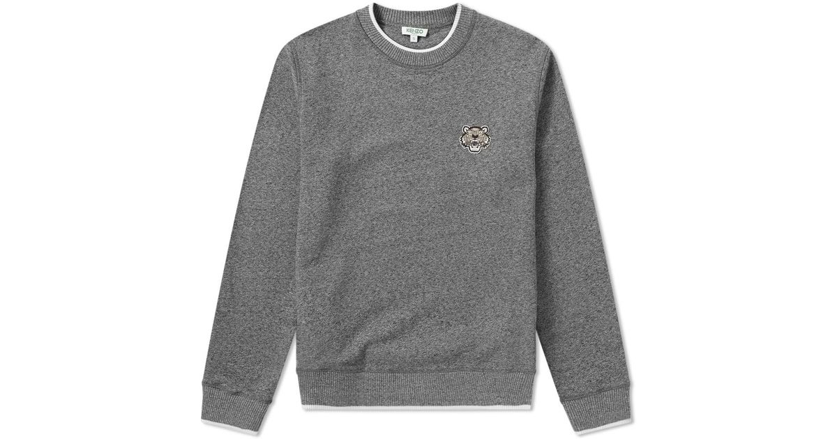 f77ca462 Kenzo Tiger Logo Crew Sweat in Gray for Men - Lyst