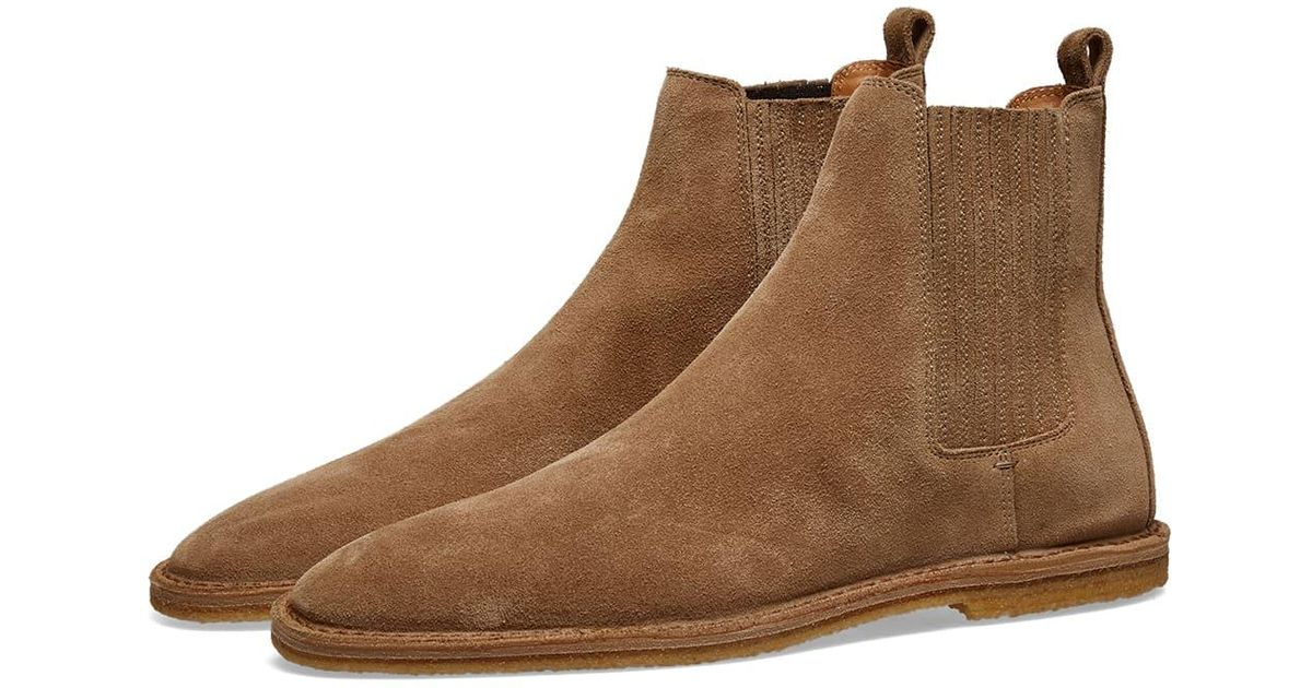 7ead0e38638 Saint Laurent Nino Crepe Sole Suede Chelsea Boot in Brown for Men - Save  35% - Lyst