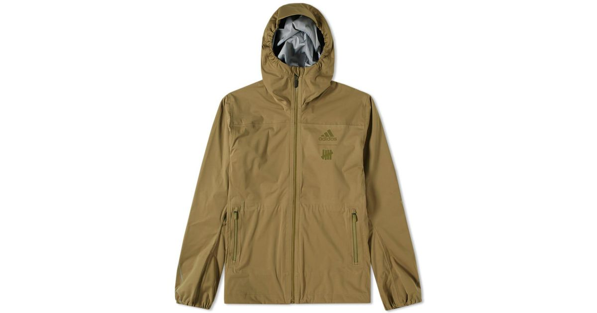 6fa1351490c2 Lyst - adidas X Undefeated 3l Gtx Jacket in Green for Men - Save 20%