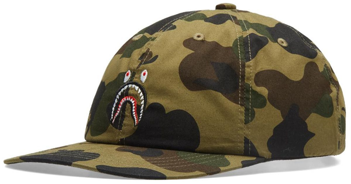 d9f004acb80 Lyst - A Bathing Ape 1st Camo Shark Cap in Green for Men