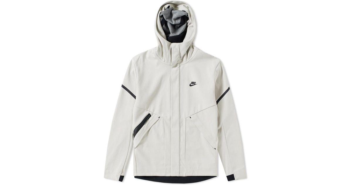 50b5dd8e66136 Nike - White Tech Fleece Windrunner Jacket for Men - Lyst