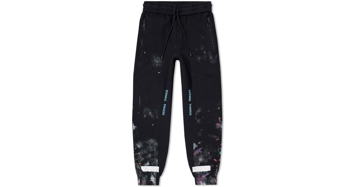 55a611442614 Off-White c o Virgil Abloh Diagonal Galaxy Sweat Pant in Black for Men -  Lyst