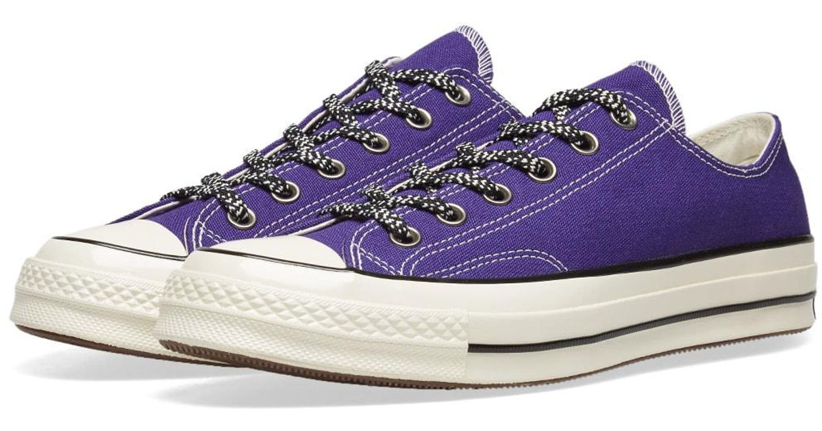 23876dbd23eb47 Lyst - Converse Chuck Taylor 1970s Ox Vintage Canvas Mountaineering in  Purple for Men