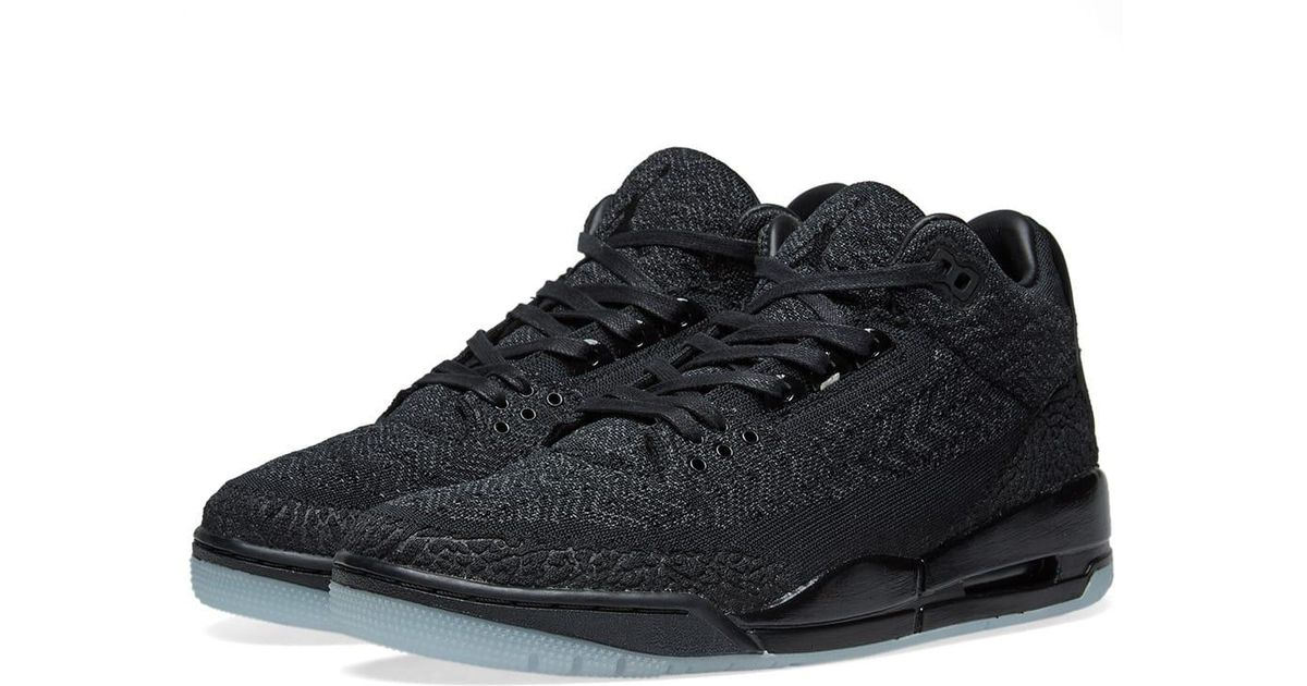 hot sale online 65d35 63194 Nike - Black Air Jordan 3 Retro Flyknit for Men - Lyst