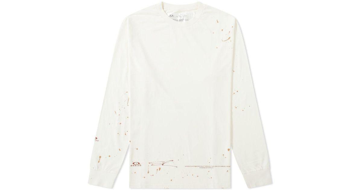 decfb24136e Oakley X Samuel Ross Long Sleeve Macro Dots Tee in White for Men - Lyst