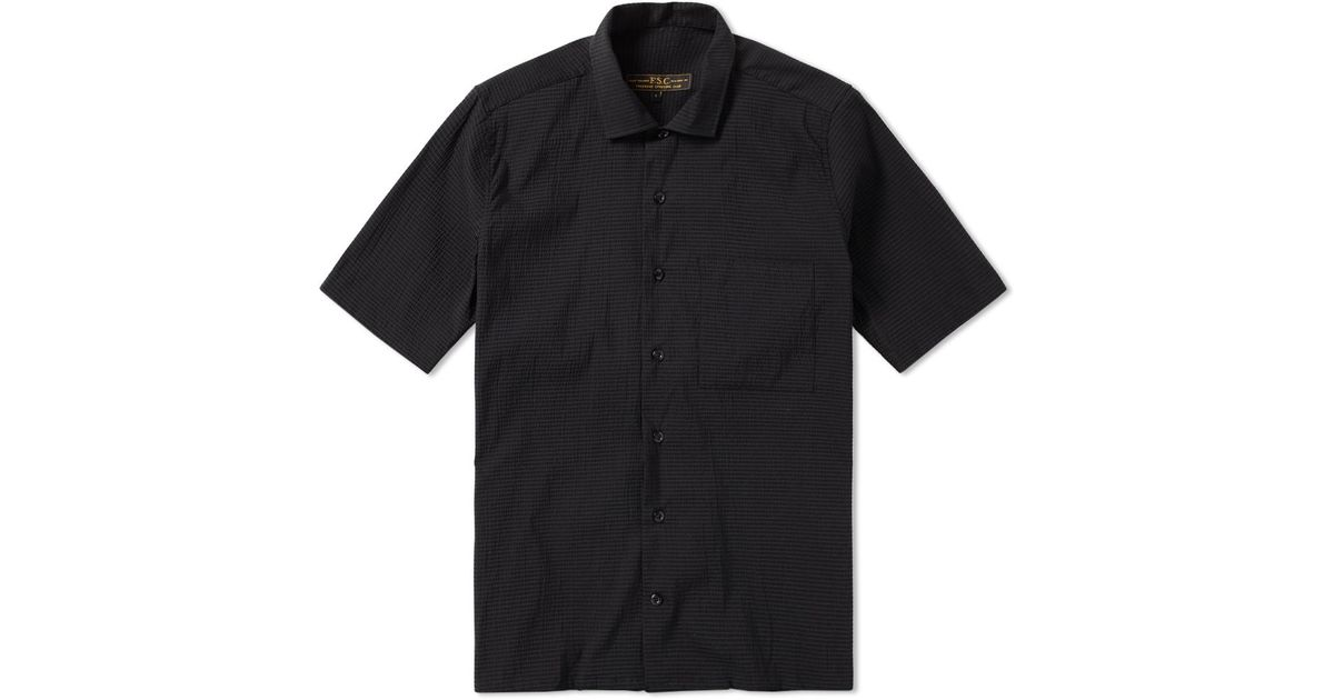 Lyst freemans sporting club short sleeve seersucker for Mens seersucker shirts on sale