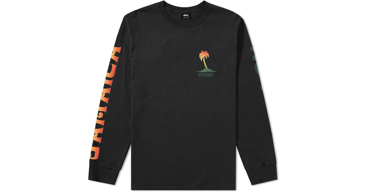 1106a4570 Lyst - Stussy Long Sleeve Jamaica Np Tee in Black for Men