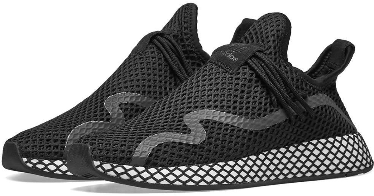 new concept 499fb f9051 adidas Deerupt S Runner in Black for Men - Lyst