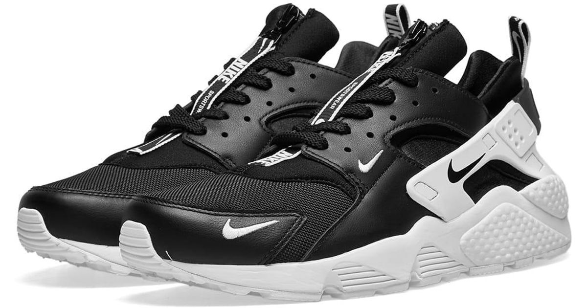 the best attitude 8a797 6c4e7 Nike Air Huarache Run Premium Zip in Black for Men - Lyst
