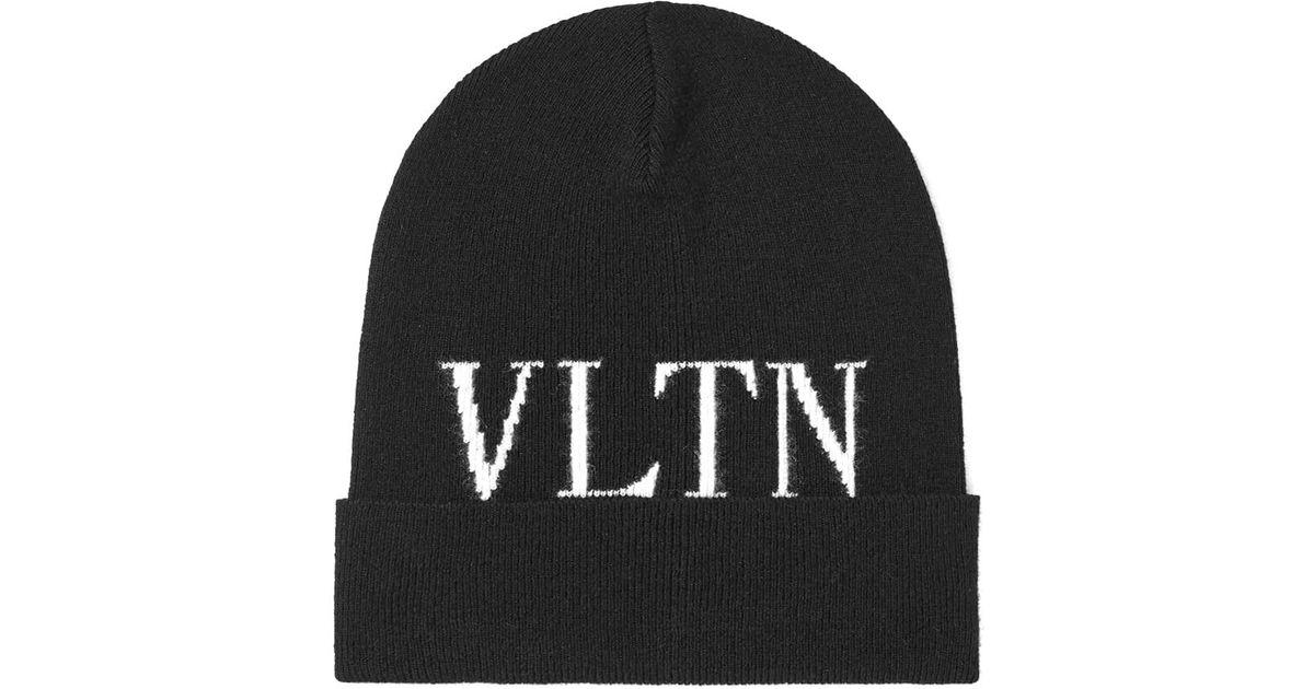Valentino Vltn Beanie in Black for Men - Save 50% - Lyst 6528c244f7c6