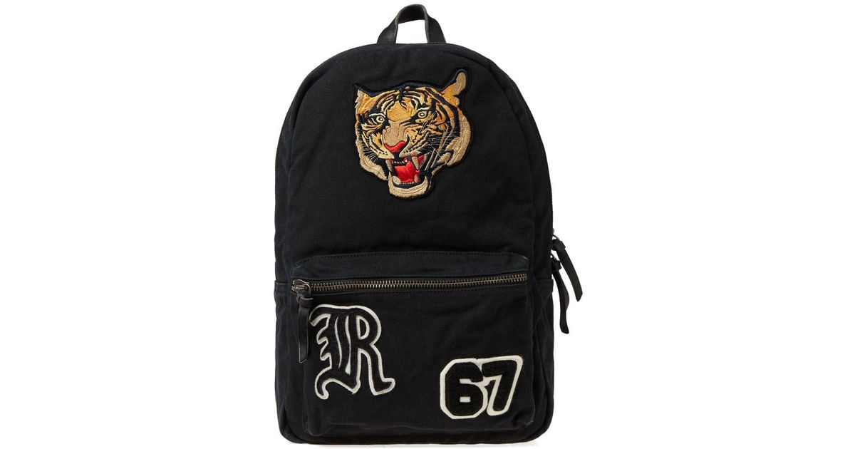 51da93c29f Lyst - Polo Ralph Lauren Tiger Embroidered Backpack in Black for Men